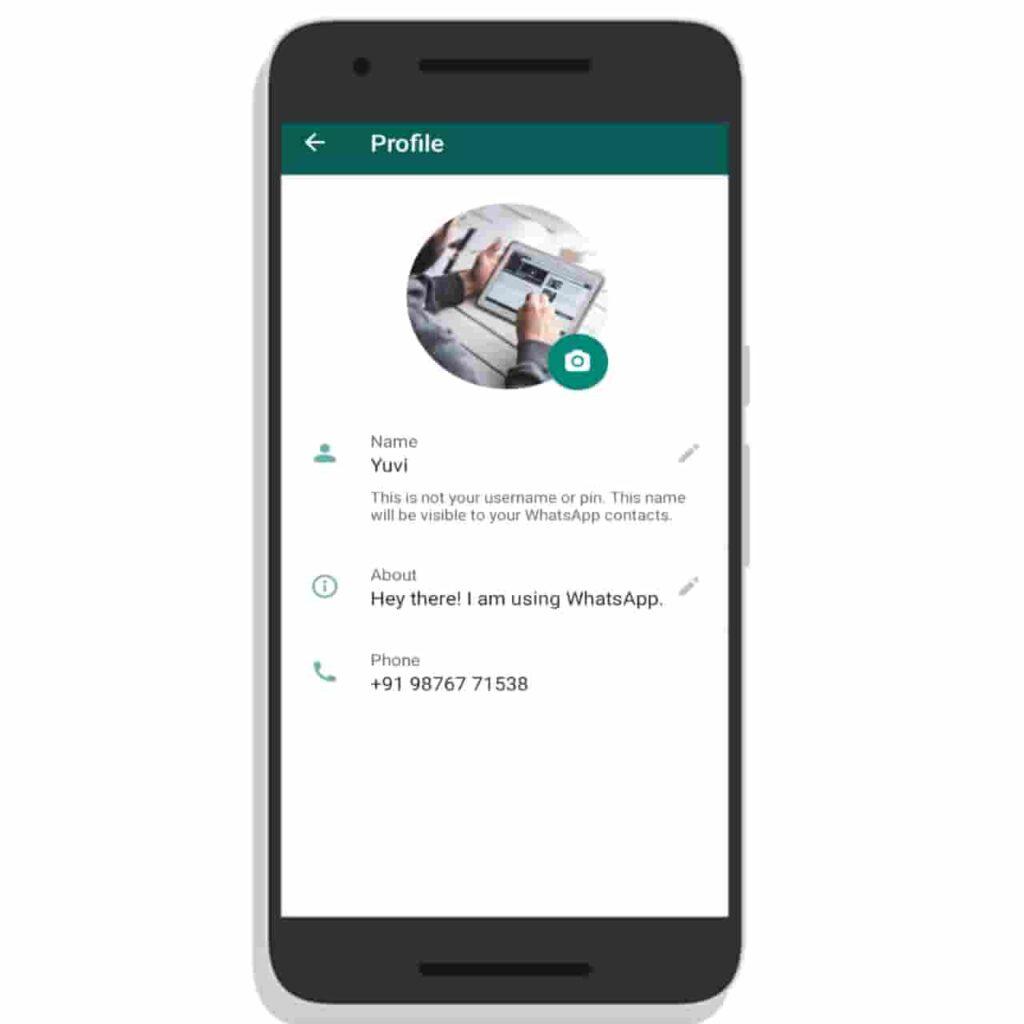 WhatsApp Profile Picture Interface