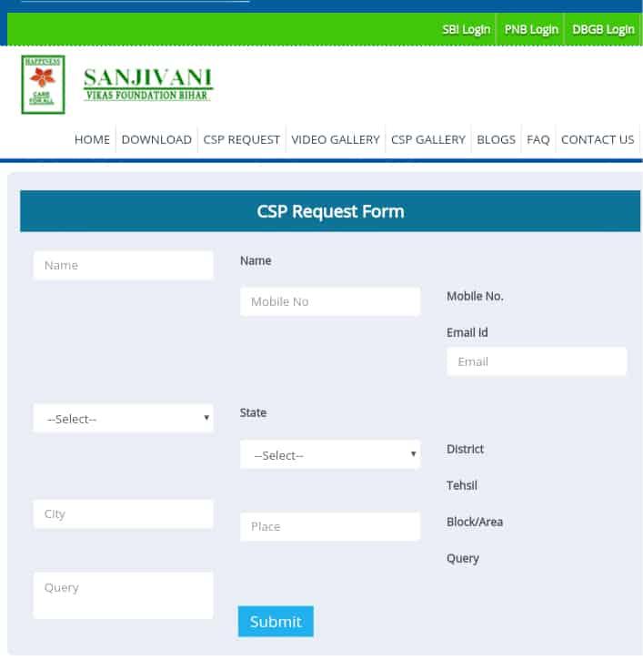 Sanjivani CSP Form