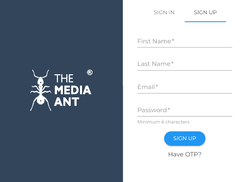 The Media Ant Sign Up