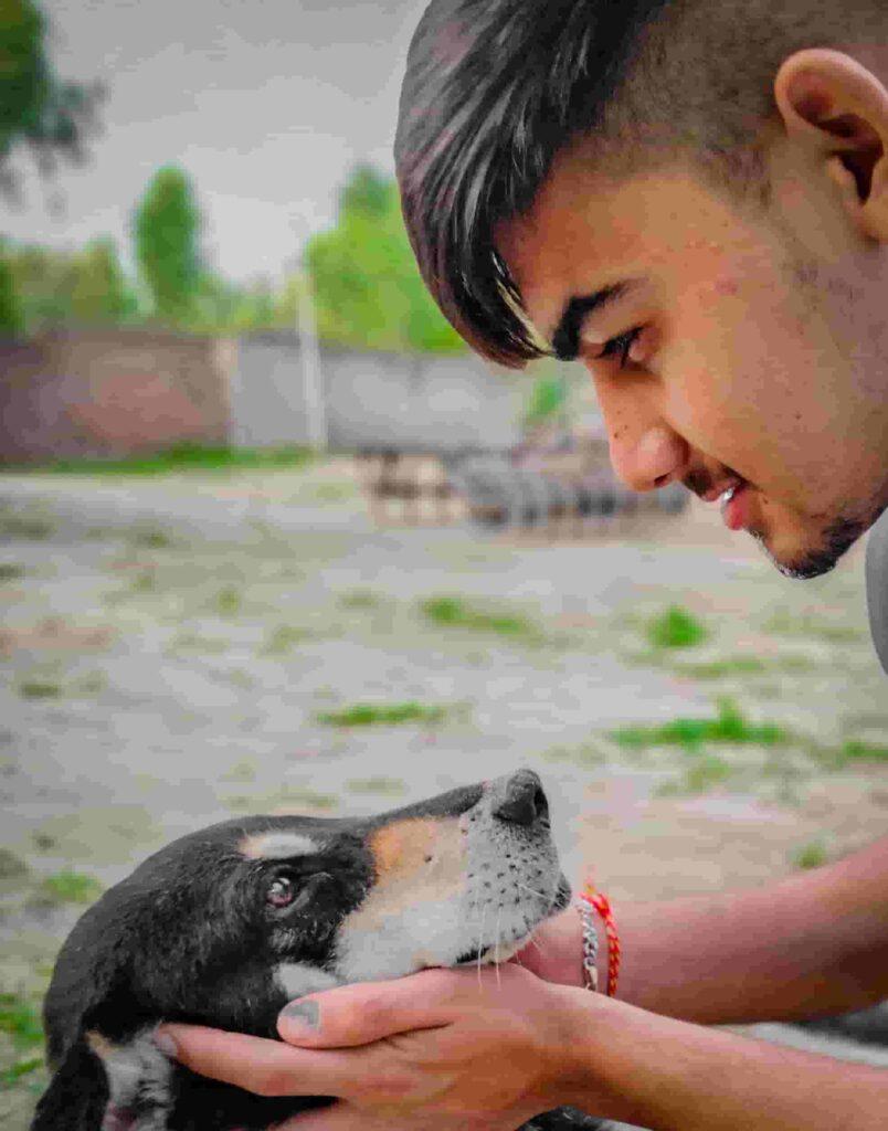 Harshdeep-Singh-With-His-Dog